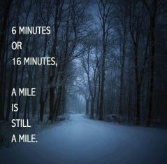 a mile is still a mile