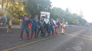 Water Station manned by the Superheroes